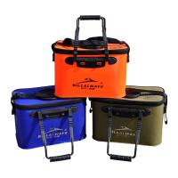 钓鱼箱折叠加氧气 EVA加厚活鱼桶折叠钓鱼桶钓箱钓鱼箱打水桶鱼护桶装鱼桶HW