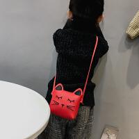 七夕礼物儿童包韩版可爱卡通斜挎包包女孩休闲零钱包新款公主包时尚女童包 红色