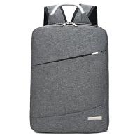 电脑包 男女士USB充电拉链竖款方型商务旅行背包2020年新款韩版大学生气质时尚男女式防水大容量双肩包