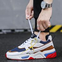 时尚新款韩版潮流男鞋百搭运动休闲帆布板鞋男士潮鞋社会跑步潮鞋