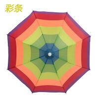 户外儿童伞帽头戴帽伞松紧带晴雨帽子伞防晒防风钓鱼伞儿童帽