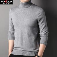 �M199-100 �u�色彩高�I�A�I��衫男士 含桑�Q�z+羊毛 渲染�色保暖打底衫商�招蓍e�L袖毛衣毛�衣青中年伯克��Z15