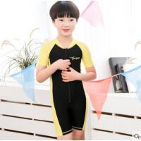 儿童泳衣男女童泳装可爱韩国连体游泳衣宝宝婴儿泡温泉泳衣