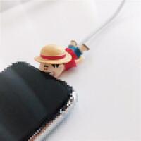 可爱苹果线套绕线器充电器保护头充电器保护线iPhone6/7plus/8/X通用防断裂手机数据线保护