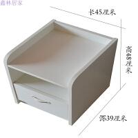 床头柜迷你整装简约25/30/35/40cm小户型白色超窄小床头柜储物柜 整装