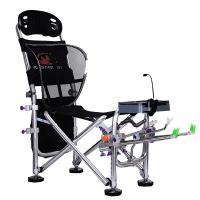 钩鱼椅 新款多功能铝合金折叠钓椅躺椅折叠钓鱼凳防晃椅骑士钓鱼椅HW 透明