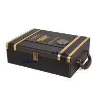 红酒盒包装礼盒双支装皮盒葡萄酒箱红酒包装礼盒2支装酒盒子 图案色503款 配酒具
