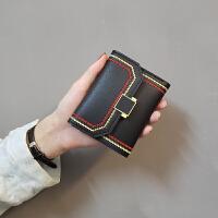 ins新款韩版简约编制小清新女士小钱包女短款三折零钱包卡包皮夹