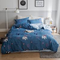 公主儿童棉被套床上用品四件套粉色欧风格棉云朵床单北欧