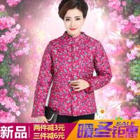 中老年女装轻薄棉衣中年妇女秋冬季妈妈装短款小棉袄大码外套