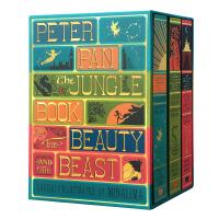 【英文原版】 精装儿童文学三册合集 含彼得潘、 奇幻森林、美女与野兽 全彩复刻插图版 3D手工立体书