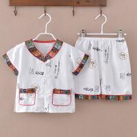 儿童汉服短袖夏季套装中式服装宝宝唐装