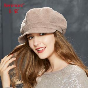 卡蒙贝雷帽子女秋冬天韩版青年羊毛呢帽妈妈帽子保暖中年鸭舌帽2600