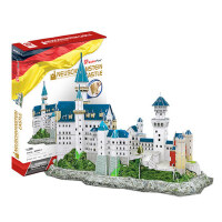 3D拼图立体拼图DIY手工拼插玩具 德国新天鹅城堡纸模型玩具