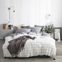 床上被罩床单三件套纯棉床上用品少女心ins被套学生宿舍 单人男生 2.0米床:被套220*240cm 床单245*2