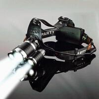 LED强光头灯超亮远射充电钓鱼灯户外照明多功能头戴手电筒