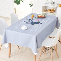 桌布北欧风格 餐桌布艺格子棉麻小清新长方形正方形圆