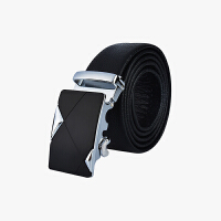 当当优品 牛皮腰带 男士自动扣双面休闲皮带-P1601