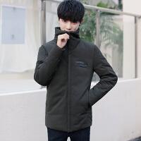 新款冬季男士羽绒服短款韩版修身立领青年冬装高领加厚外套潮