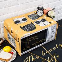 北欧潮猫微波炉盖布ins清新罩格兰仕美的烤箱盖巾长方形 35X95cm