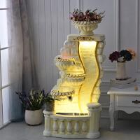 欧式大鱼池客厅喷泉流水水景家居装饰品摆设风水轮水幕墙摆件