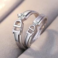 【情侣戒指】欧美时尚简约 结婚戒 多款可选男女 钻石戒指一对 M2 我 愿 意【送证书】
