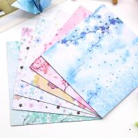 正方面双面印花唯美樱花儿童手工折纸彩色叠纸卡纸千纸鹤diy材料