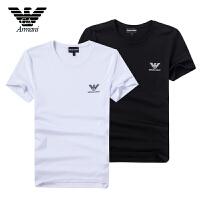 Armani阿玛尼 男士短袖T恤清凉 透气吸汗面料 logo装饰 ZNH64BN两色