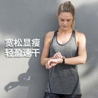 户外运动背心女夏季宽松无袖跑步健身T恤速干罩衫上衣