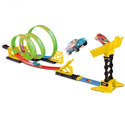 大型儿童玩具双人子风火轮回旋竞速赛车轨道跑车男孩3-6-7-10岁