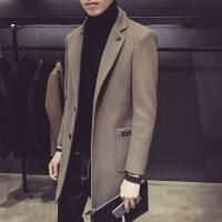 呢子大衣男中长款外套韩版男士风衣新款帅气毛呢外套男青年版