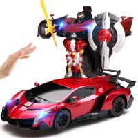 大遥控汽车感应变形赛车金刚兰博基尼充电动机器人儿童玩具男孩