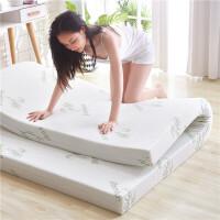 高密度海绵床垫褥1.5.8m.2米加厚单双人学生宿舍记忆超软仿乳胶棉 针织米黄外罩 【仿乳胶款】7cm厚