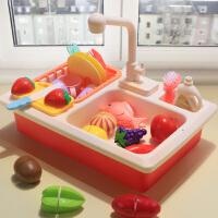 儿童洗碗机玩具出水过家家厨房仿真小水池洗菜盆宝宝洗手套装女孩