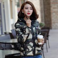 【限时抢购】大码棉衣女装冬装新款韩版连帽外套宽松短款迷彩加厚棉袄羽绒棉