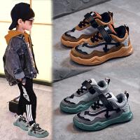 男童鞋运动鞋秋冬大童韩版魔术贴休闲加绒儿童板鞋女童鞋