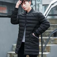 男士外套冬季韩版潮流学生中长款加厚保暖棉衣休闲帅气棒球衣服男