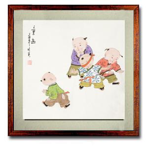 美术家协会会员 姜晓英《童趣》 1 50cmx50cm