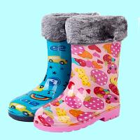 儿童雨鞋男童女童宝宝雨胶鞋学生加厚防滑加绒保暖