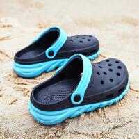 男童包头洞洞鞋时尚外穿夏季男孩中大童沙滩凉拖