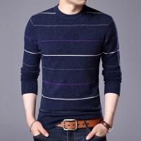 2017新款套头保暖纯羊毛羊毛衫男士圆领长袖针织衫毛衣打底衫线衫