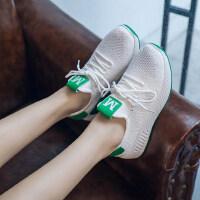 白色休闲鞋运动鞋女鞋夏季飞织网面透气网鞋小白鞋跑步鞋
