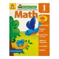 【首页抢券300-100】Evan Moor At-Home Tutor Math Grade 1 一年级数学科目家中导