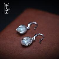 925纯银巴洛克淡水珍珠耳环女气质 个性百搭耳钩耳坠复古耳饰