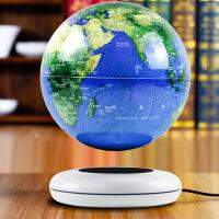磁悬浮地球仪8寸发光自转悬浮摆件办公室摆件创意生日礼品工艺品 白色 新款8寸发光蓝
