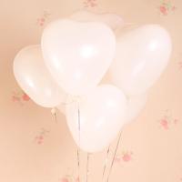 婚庆用品婚房装饰结婚婚礼彩色气球心形爱心气球100个表白求婚 白色(100个) 1包送4样