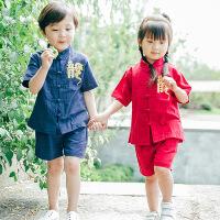 7女宝4男宝唐装夏复古5女宝宝夏装套装1-3岁潮宝贝幼儿小孩古装男