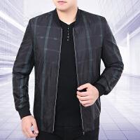 新款秋季男装外套商务休闲中年男士棒球领夹克衫装薄款上衣