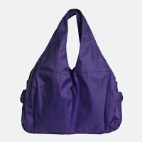饺子形防水尼龙布包舞蹈包妈咪女包帆布包运动单肩包手提大包 紫色 暗紫