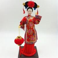北京绢人玩偶四大美女中国京剧脸谱人偶娃娃吉祥物家居摆件 乳白色 01